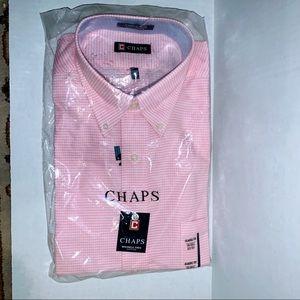 NWT Men CHAPS  pink classic shirt Sz 16/16.5 32/33